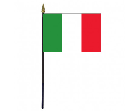 "Italy Stick Flag - 4x6"""