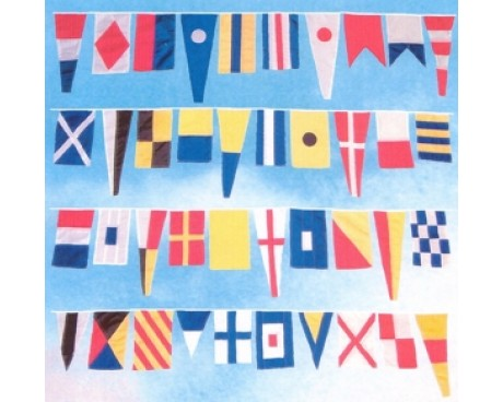 Signal Flag String of 40 Flags