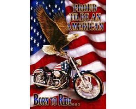 Born To Ride Garden Flag