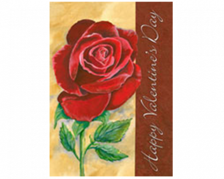 Valentine's Rose Flag