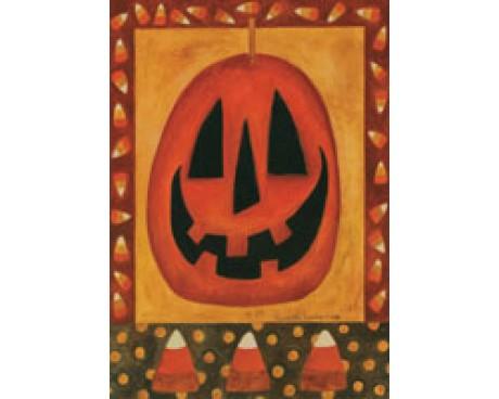 Primitive Pumpkin Garden Flag
