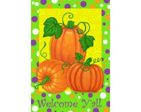 Polka Dot Pumpkins House Banner