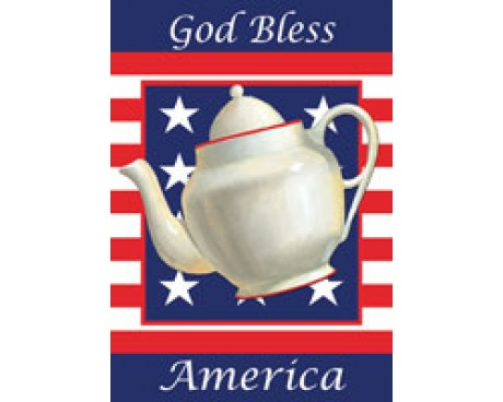 Patriotic Tea Pot House Banner