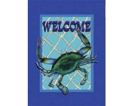 Welcome Crab Garden Flag