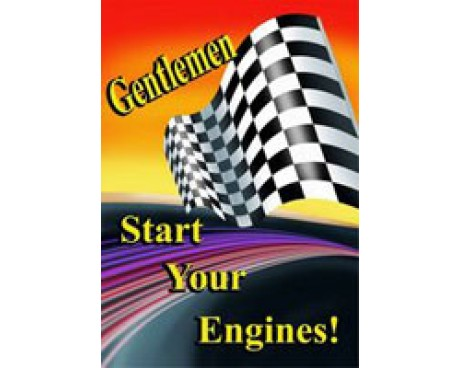 Gentlemen Start Your Engines Flag