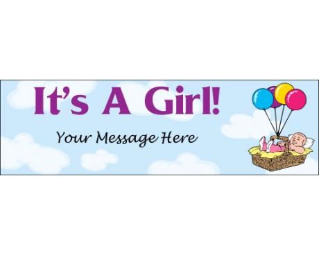 Its A Girl Banner Clip Art