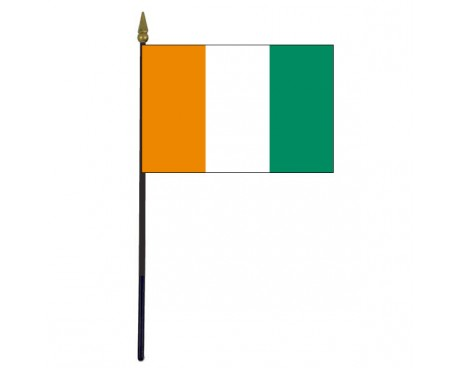 Ivory Coast Stick Flag - 4x6""