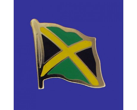 Jamaica Lapel Pin (Single Waving Flag)