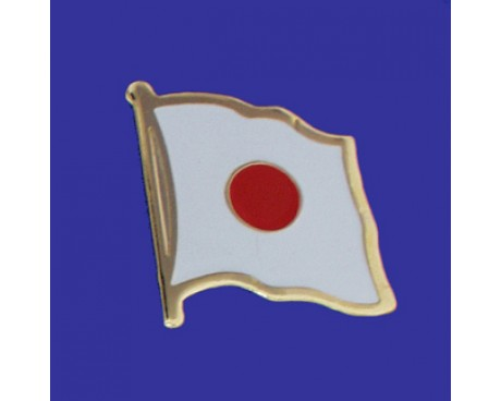 Japan Lapel Pin (Single Waving Flag)