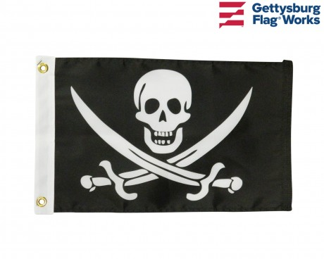 "John ""Calico Jack"" Rackham Pirate Boat Flag - Choose Options"