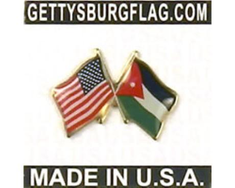 Jordan Lapel Pin (with US Flag)