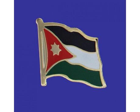 Jordan Lapel Pin (Single Waving Flag)