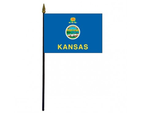 Kansas State Stick Flag - 4x6""