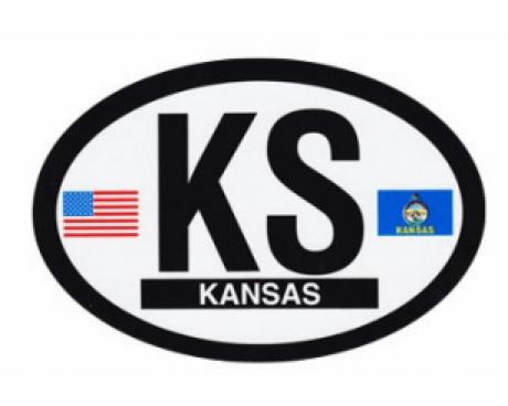 Kansas Oval Sticker