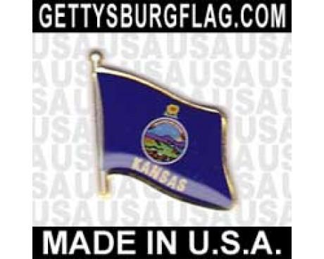 Kansas State Flag Lapel Pin