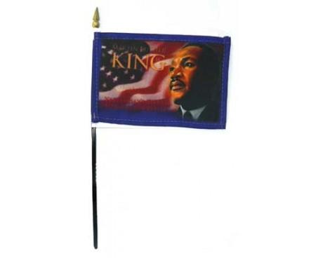 "ML King Jr. Stick Flag - 4x6"""