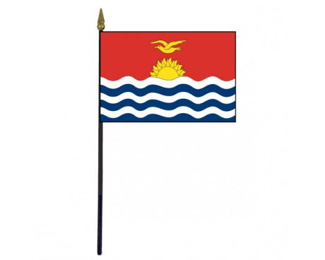 Kiribati Stick Flag - 4x6""