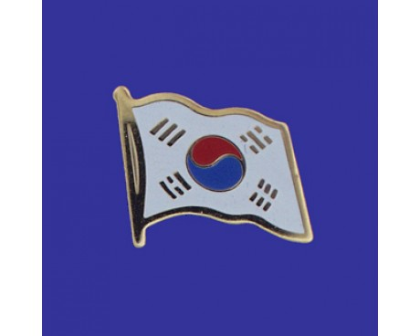 South Korea Lapel Pin (Single Waving Flag)