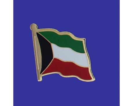 Kuwait Lapel Pin (Single Waving Flag)
