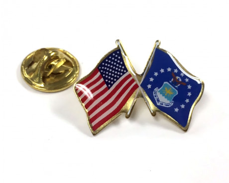Air Force Flag Lapel Pin Clutch