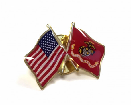 Marine Corps Flag Lapel Pin