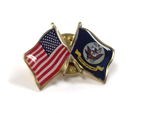 Navy Flag Lapel Pin