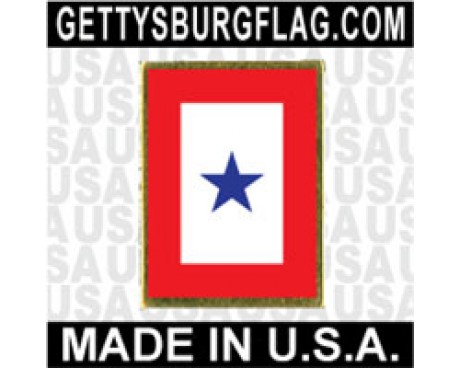 Service 1 Blue Star Lapel Pin (Vertical Rectangle)