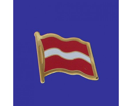Latvia Lapel Pin (Single Waving Flag)