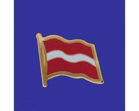 Latvia Lapel Pin (Single Waving Flag)