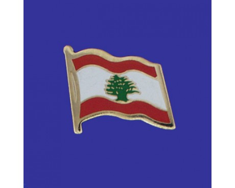 Lebanon Lapel Pin (Single Waving Flag)