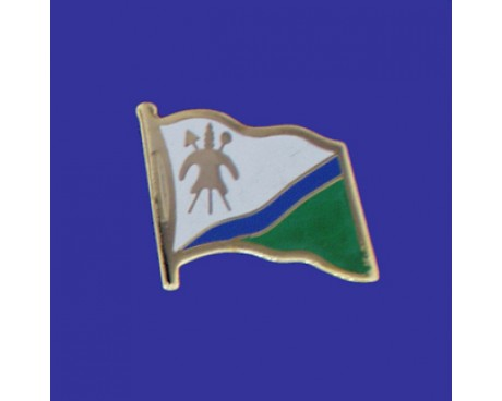 Lesotho Lapel Pin (Single Waving Flag)
