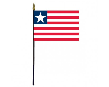 "Liberia Stick Flag - 4x6"""