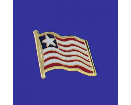 Liberia Lapel Pin (Single Waving Flag)