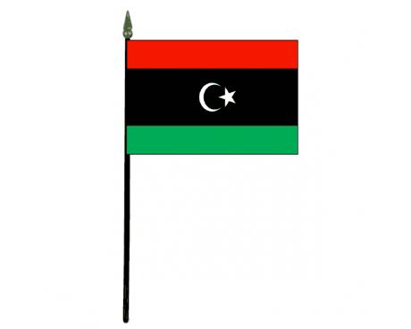 "Libya Stick Flag - 4x6"""