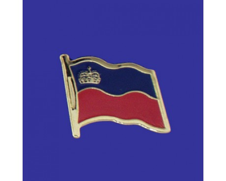 Liechtenstein Lapel Pin (Single Waving Flag)