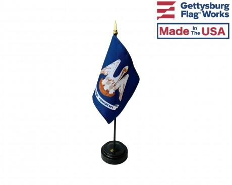 "Louisiana State Stick Flag - 4x6"""