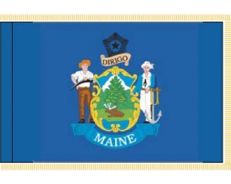 Maine Flag - Indoor