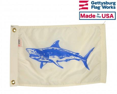 "Mako Shark Flag - 12x18"""
