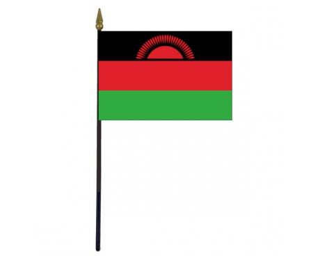 "Malawi 2012 Stick Flag - 4x6"""