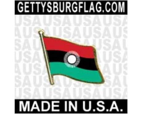 Malawi 2010-2012 Lapel Pin (Single Waving Flag)