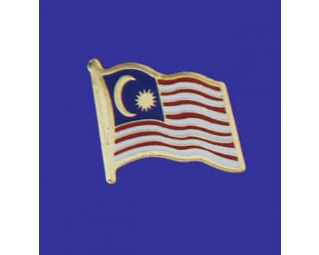 Malaysia Lapel Pin (Single Waving Flag)