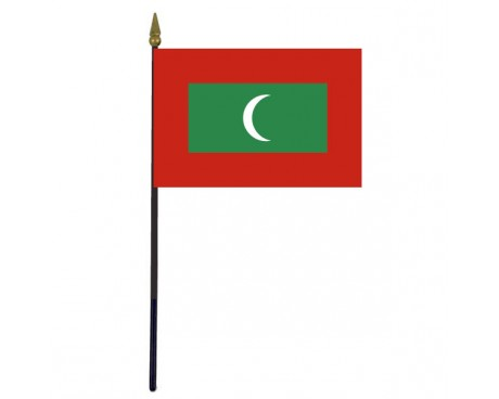 Maldives Stick Flag - 4x6""