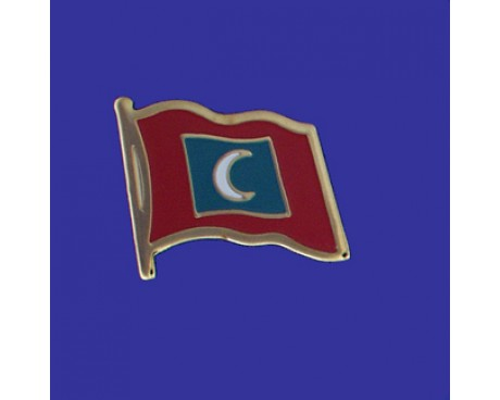 Maldives Lapel Pin (Single Waving Flag)