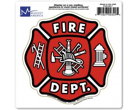 Maltese Cross Fire Department Magnet