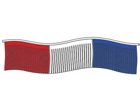 Red/White/Blue Mardis Gras Streamers - 60'