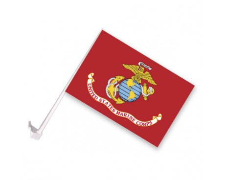 Marine Corps Car Window Flag