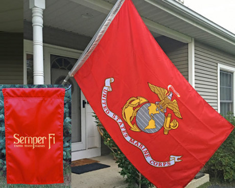 Marine Corps Flag Bundle Sm