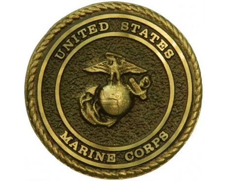 Marine Bronze Grave Marker (Premium)