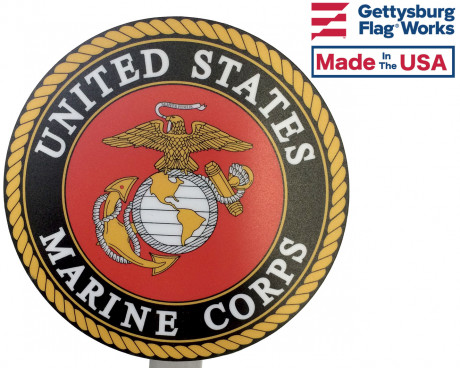 Color Marine Corps Grave Marker