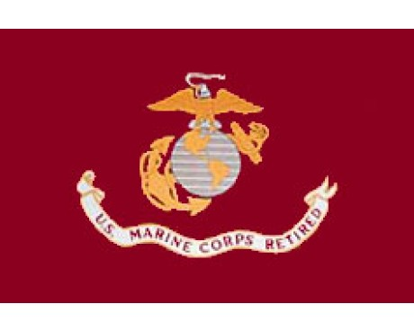 Marine Corps Retired Flag - 3x5'